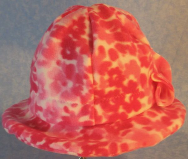 Cloche Hat in Pink Flower - back
