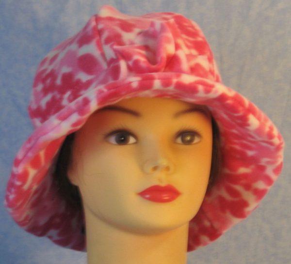Cloche Hat in Pink Flower - front