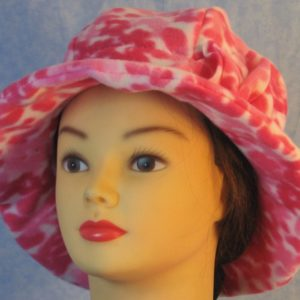 Cloche Hat in Pink Flower - front left