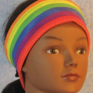 Ear Warmer - Rainbow Stripe - front