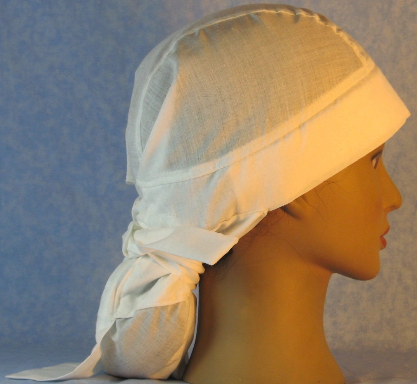 Hair Bag Do Rag in Natural Nomex - Adult 1XL-3XL