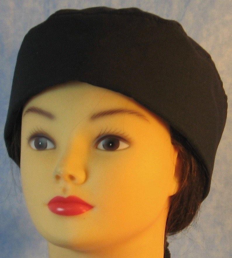 Skull Cap-Black-front