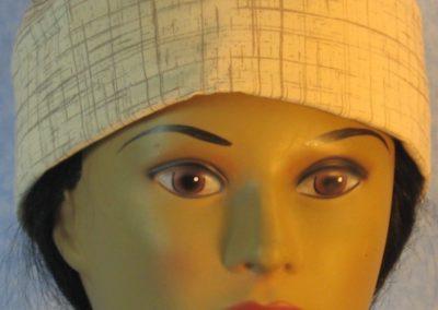 Skull Cap in Brown Tan Crosshatch-front