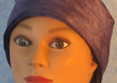Skull Cap in Purple Tie Dye Performance Knit-front
