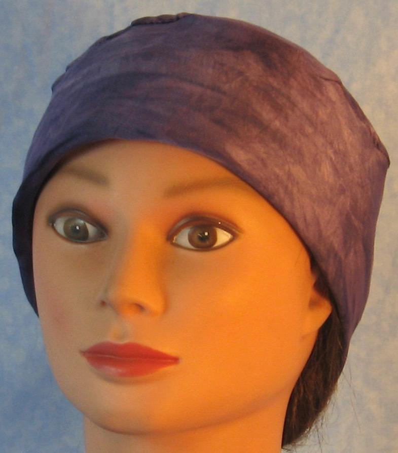 Skull Cap-Purple Tie Dye Performance Knit-front