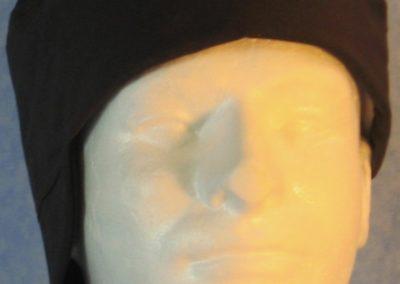Welding Cap in Black-side front