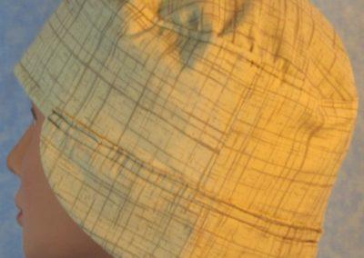 Welding Cap in Brown Tan Crosshatch - side side