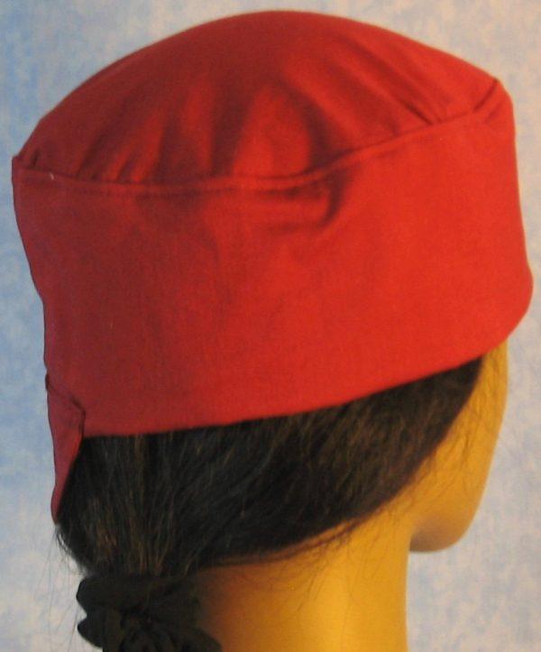 Welding Cap in Burgundy - side back