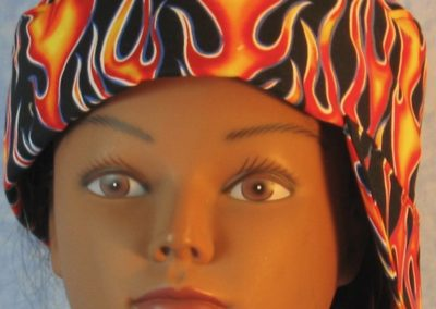 Welding Cap in Yellow Red Flame - side front