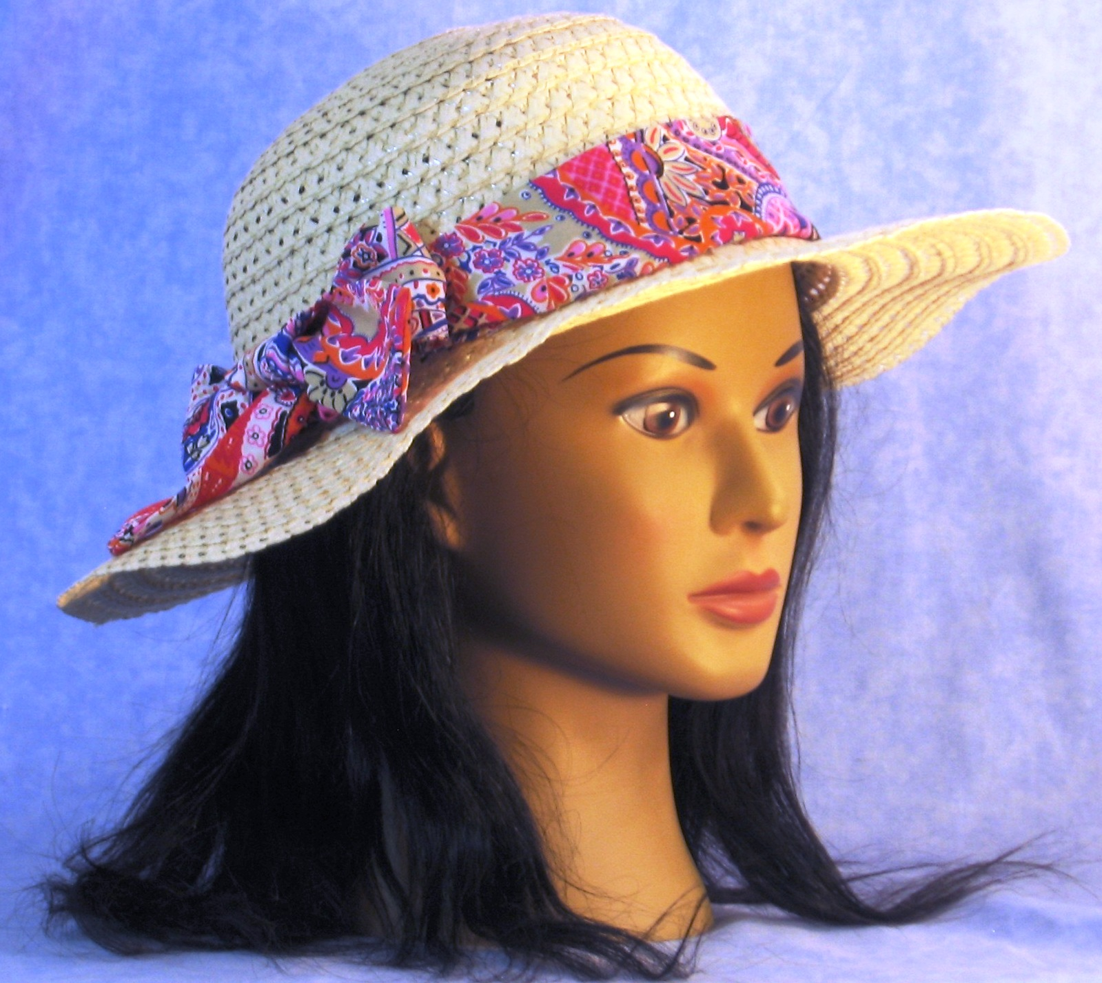 Floppy Hat-Tan Paper Braid 3