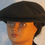Flat Cap in Black Suiting - front