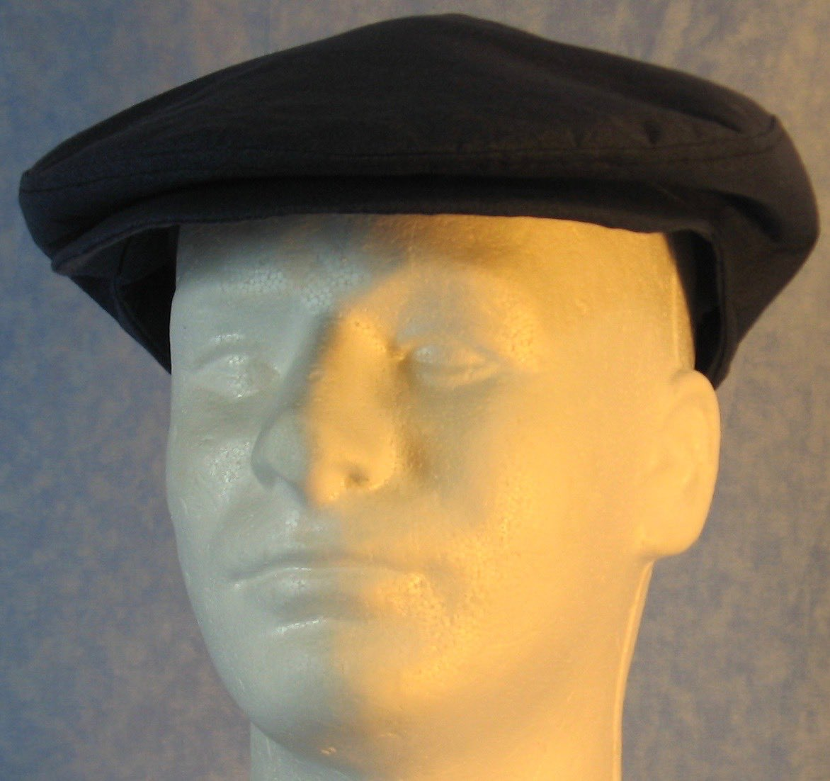 Flat Cap in Dark Blue - Adult M-XL