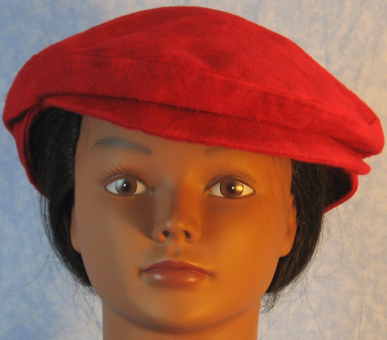 Flat Cap in Red Motley Flannel - Adult M-XL
