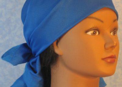 Head Wrap in Blue Knit - Wrap - right