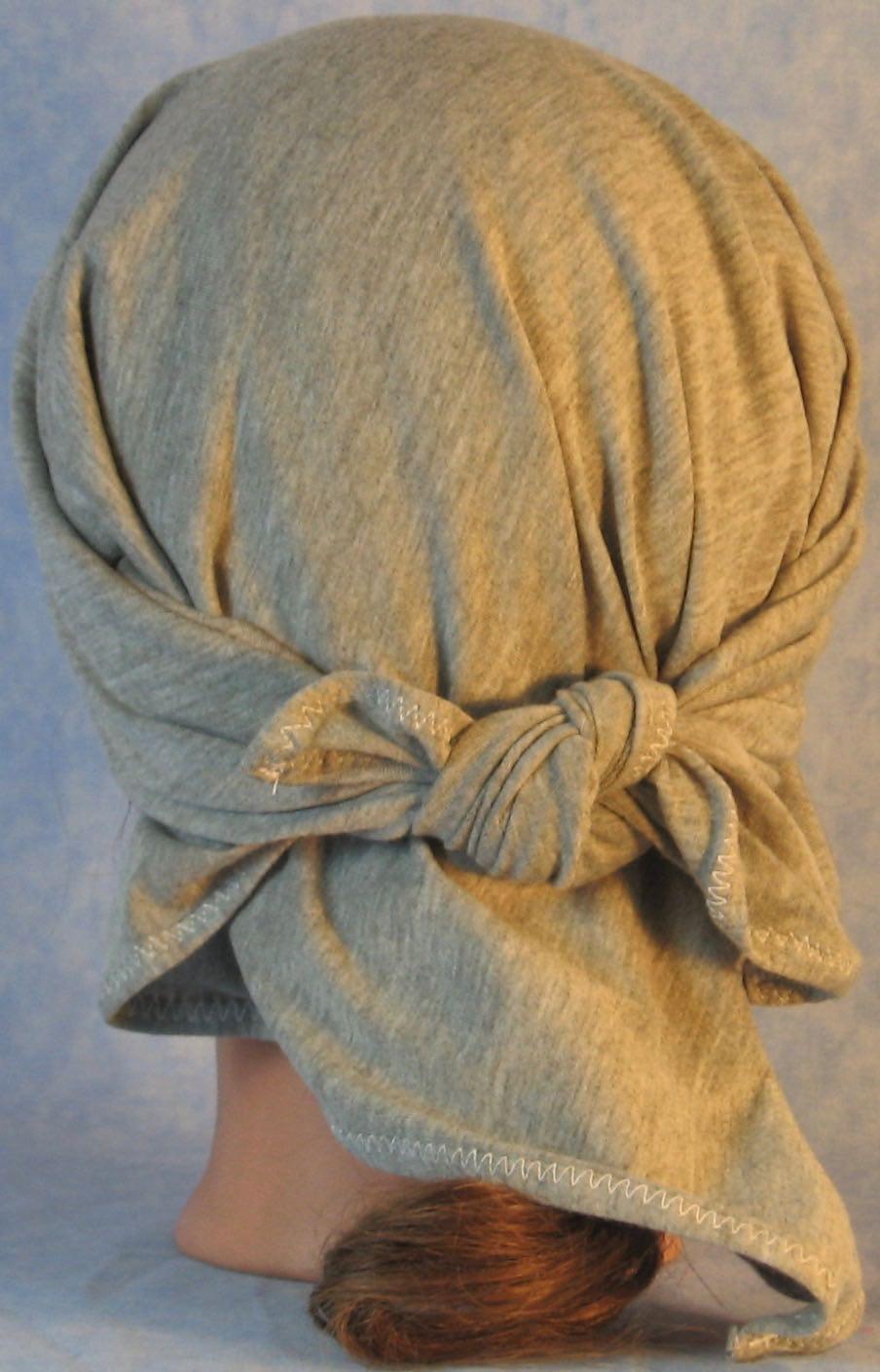 HeadWrap-Gray Knit-Wrap-back