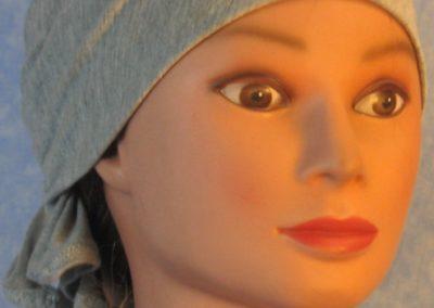 Head Wrap in Gray Knit - Wrap - front