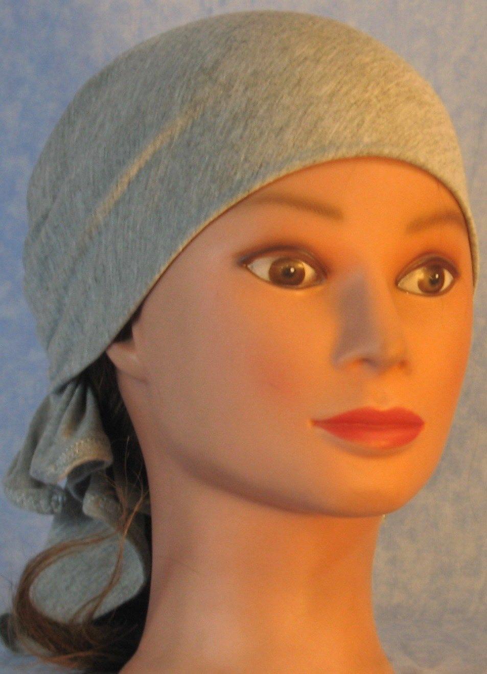 Head Wrap in Gray Knit-Regular