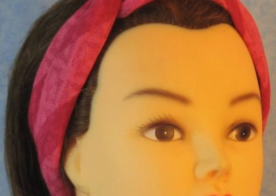 Head Wrap in Pink Stripe Burnout - Headband - right front