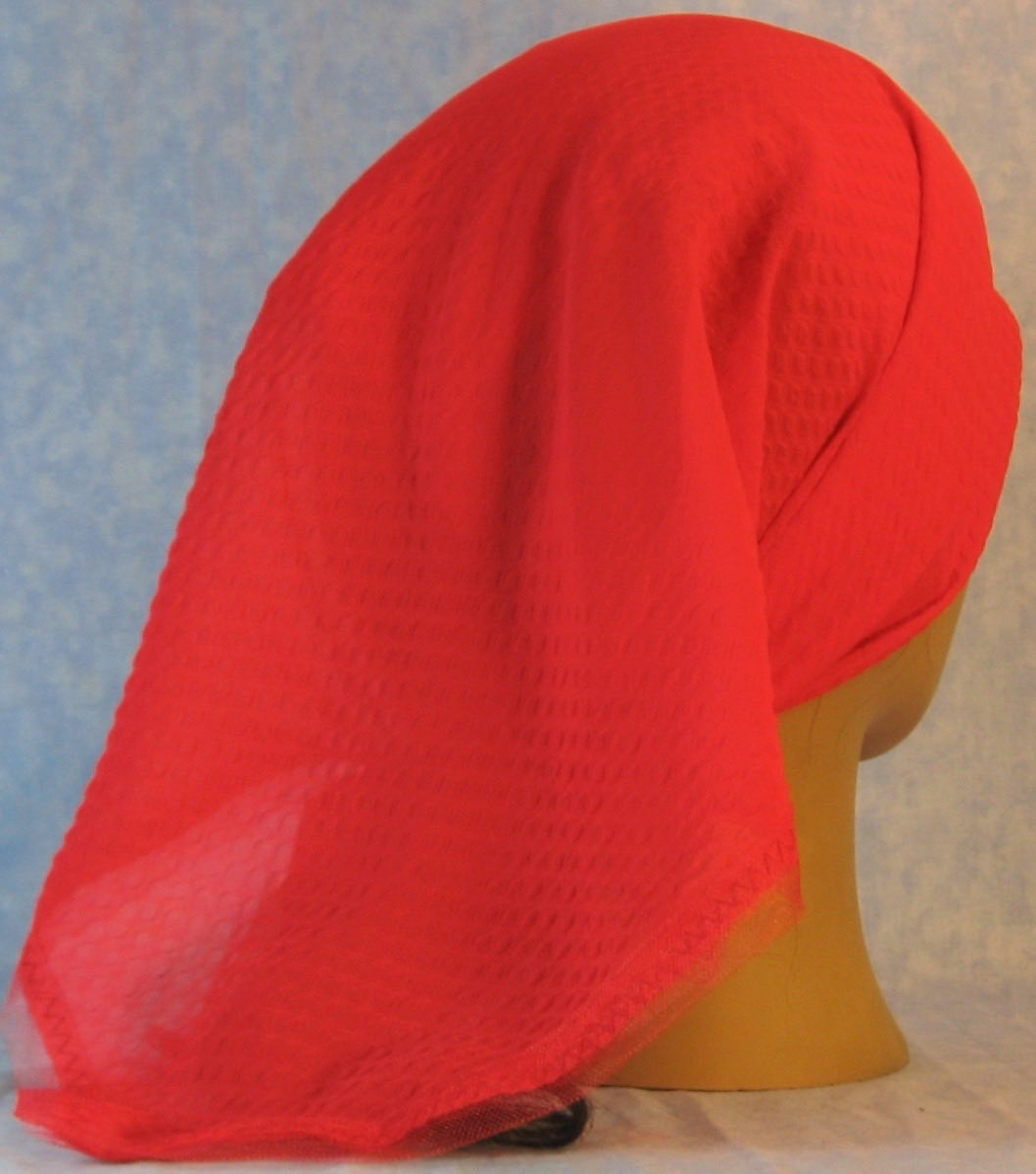 HeadWrap-Red Diamond Weave–Scarf-back