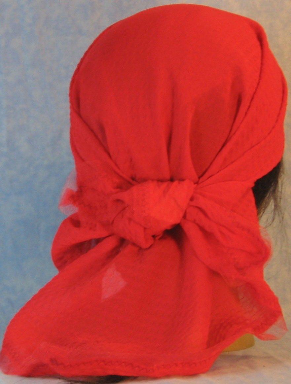 HeadWrap-Red Diamond Weave–Wrap-back