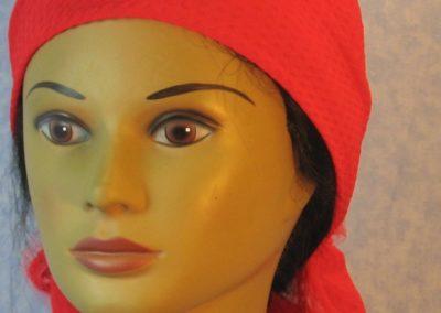 Head Wrap in Red Diamond Weave – Wrap - front