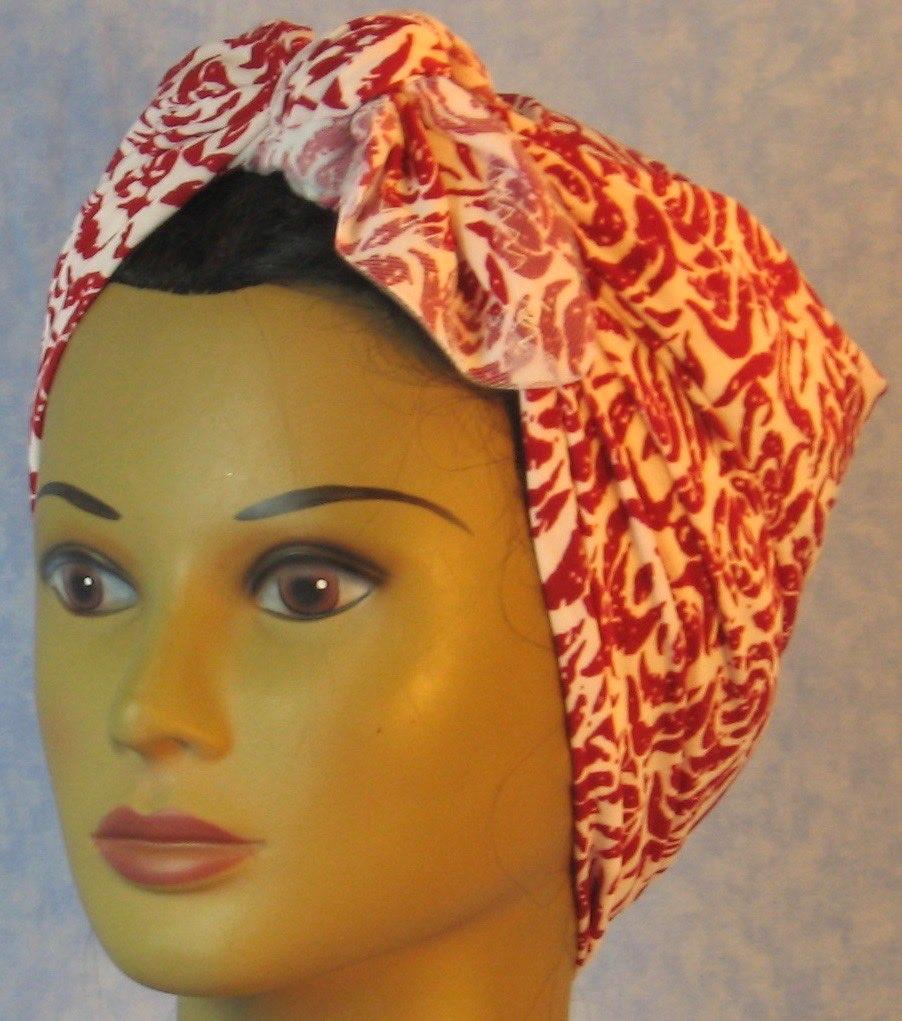 HeadWrap-Red Roses on White-Risveter-frontleft