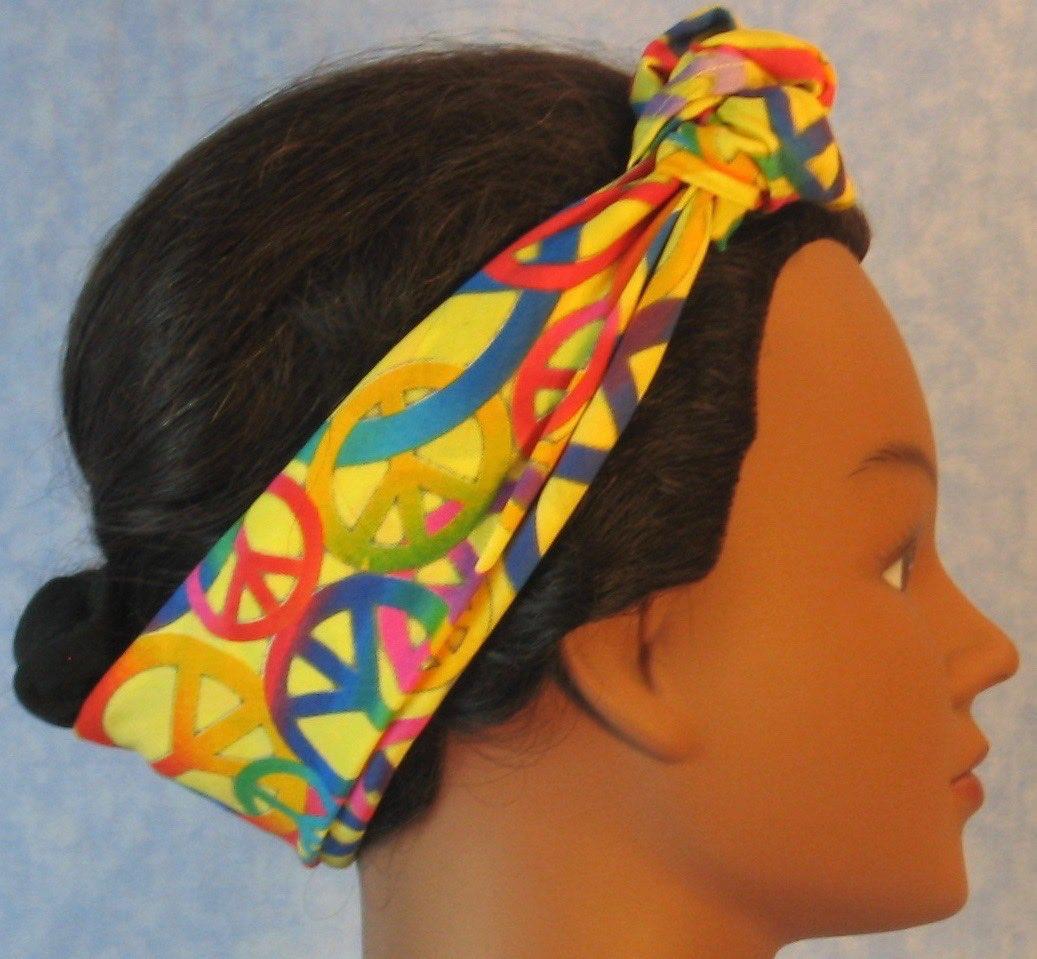HeadWrap-Yellow Peace-Headband-side