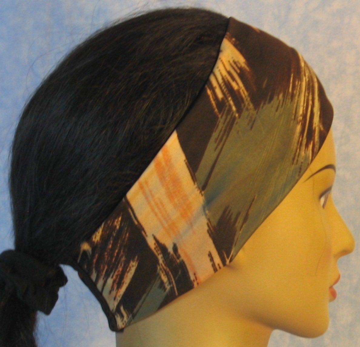 Headband-Brown With Gray Tan Brush Strokes-right