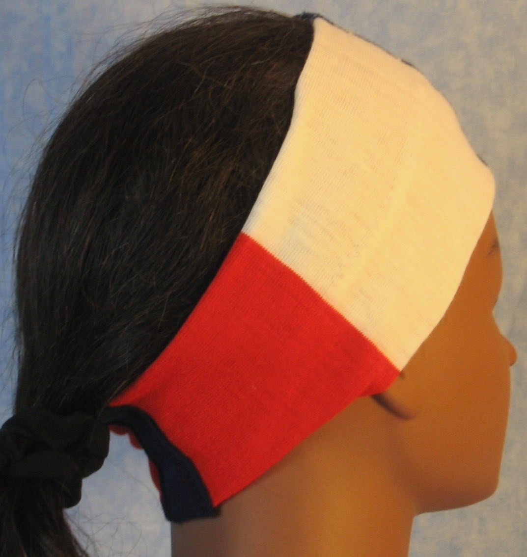 Headband-Red White Blue Stripe And Stars-right