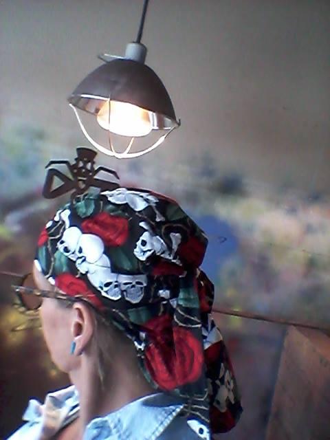 Welder Tricia Adams - All The Hair in the Hair Bag Do Rag
