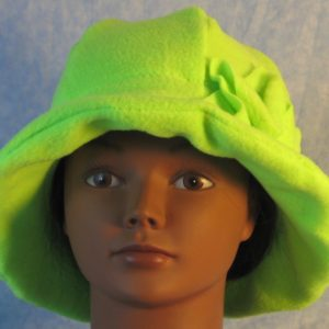 Cloche Hat in Fluorescent Green-front