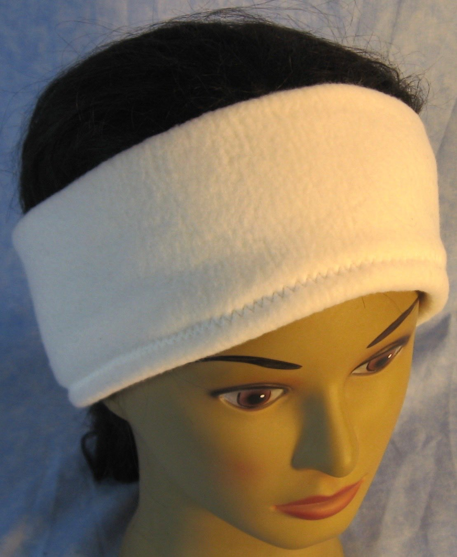 Ear Warmer in White-Adult L