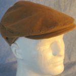 Flat Cap in Camel Brown Corduroy-right top