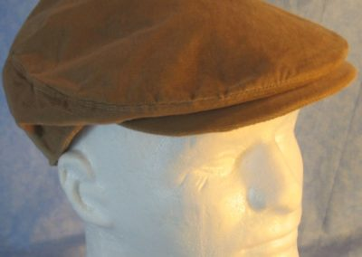 Flat Cap in Camel Brown Corduroy-right top