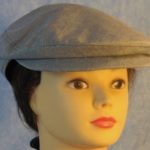 Flat Cap in Light Navy Blue Suiting-front