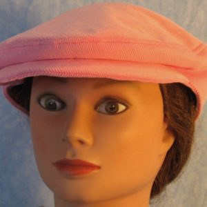 Flat Cap in Pink Corduroy-front