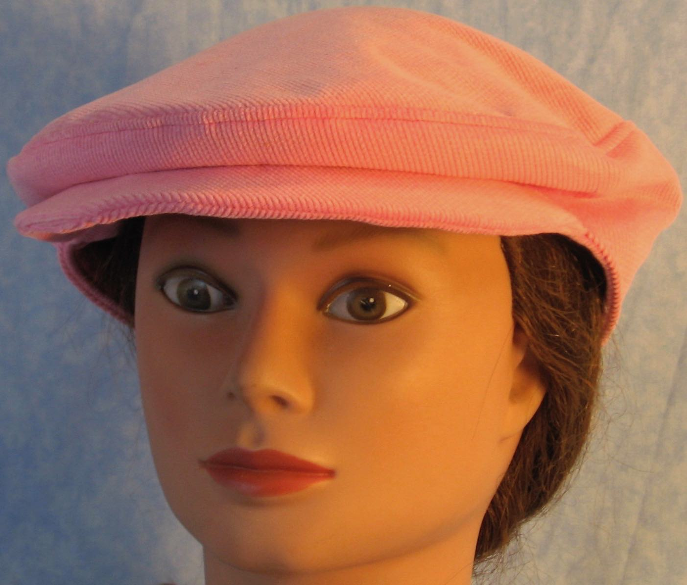 Flat Cap-Pink Corduroy-front