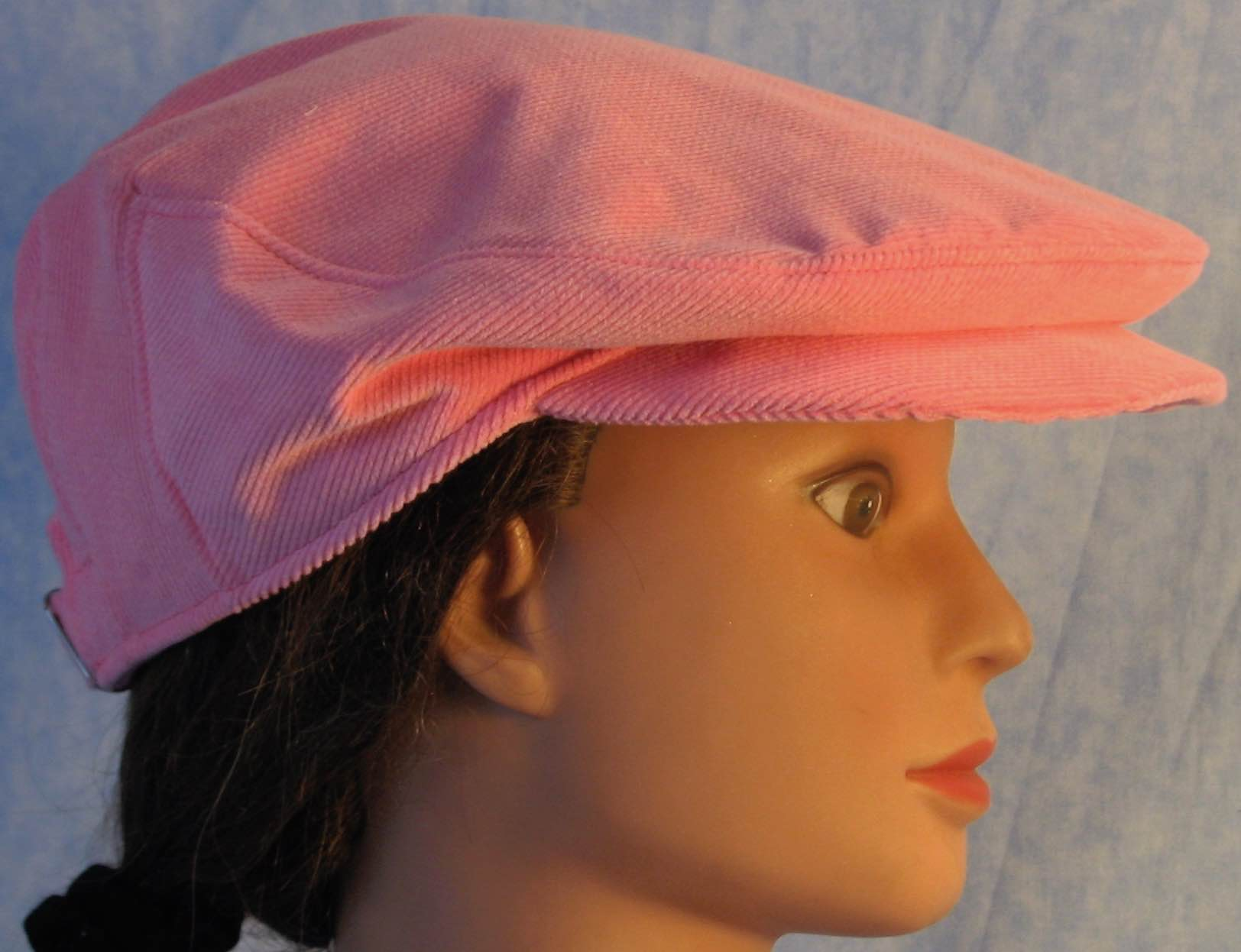 Flat Cap in Pink Corduroy - Adult M-XL