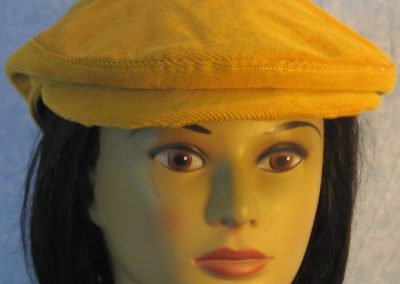 Flat Cap in Yellow Mustard Corduroy-front