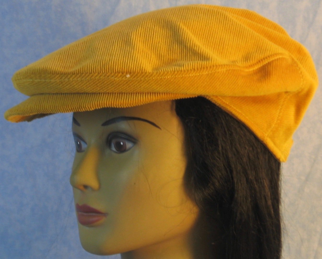 Flat Cap in Yellow Mustard Corduroy - Adult M-XL