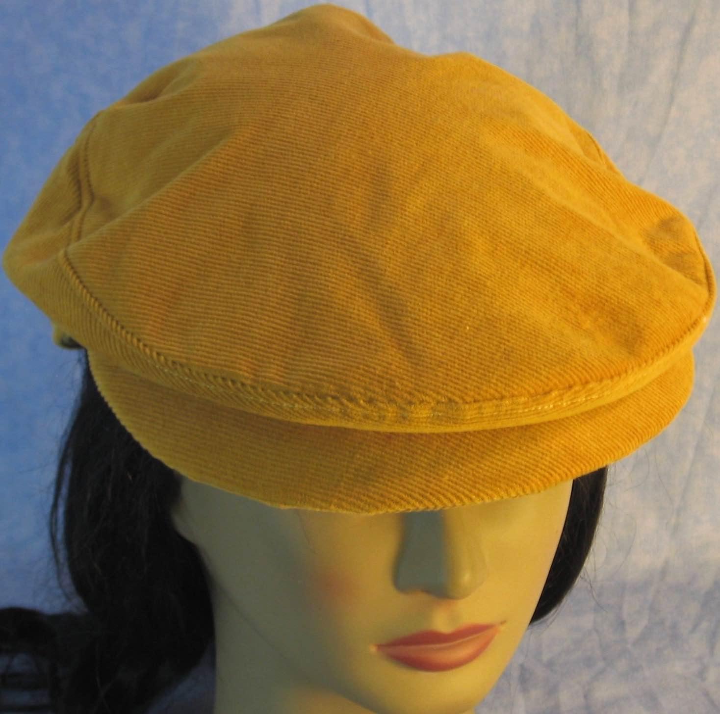 Flat Cap in Yellow Mustard Corduroy – Adult M-XL  464a2fbbc0f