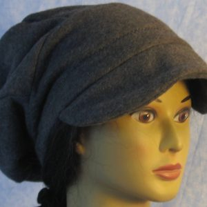 Newsboy in dark gray-baggy back-right front