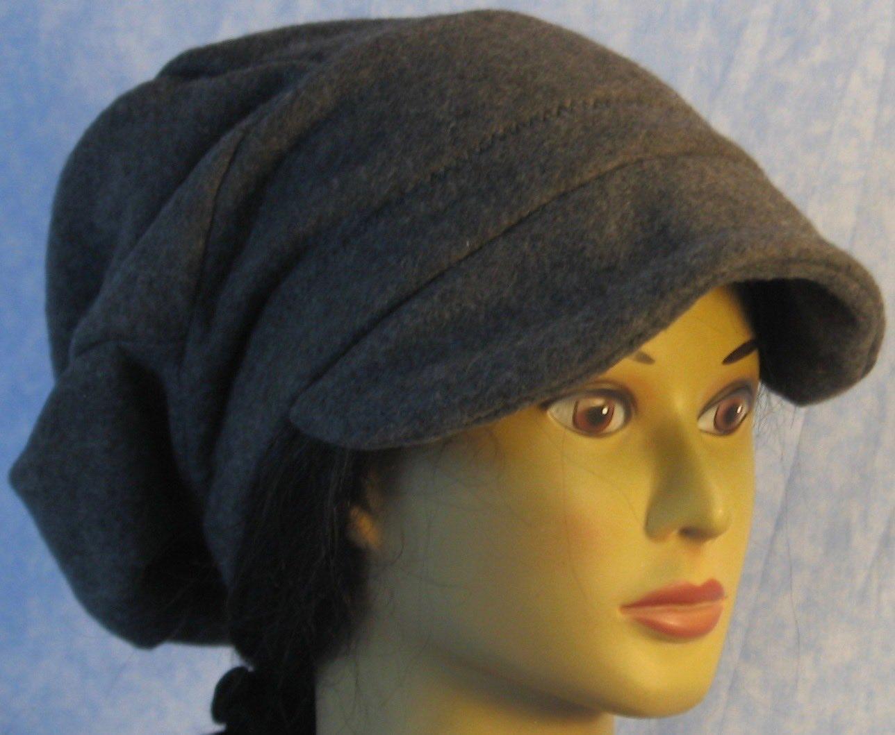 Newsboy Hat in Dark Gray-Adult 1XL
