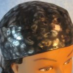 Skull Cap in Gray Black Cheetah Blue Sparkle-Performance Knit-top front
