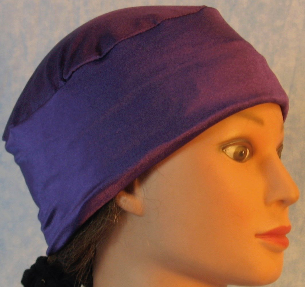 Skull Cap-Purple Knit-Adult L