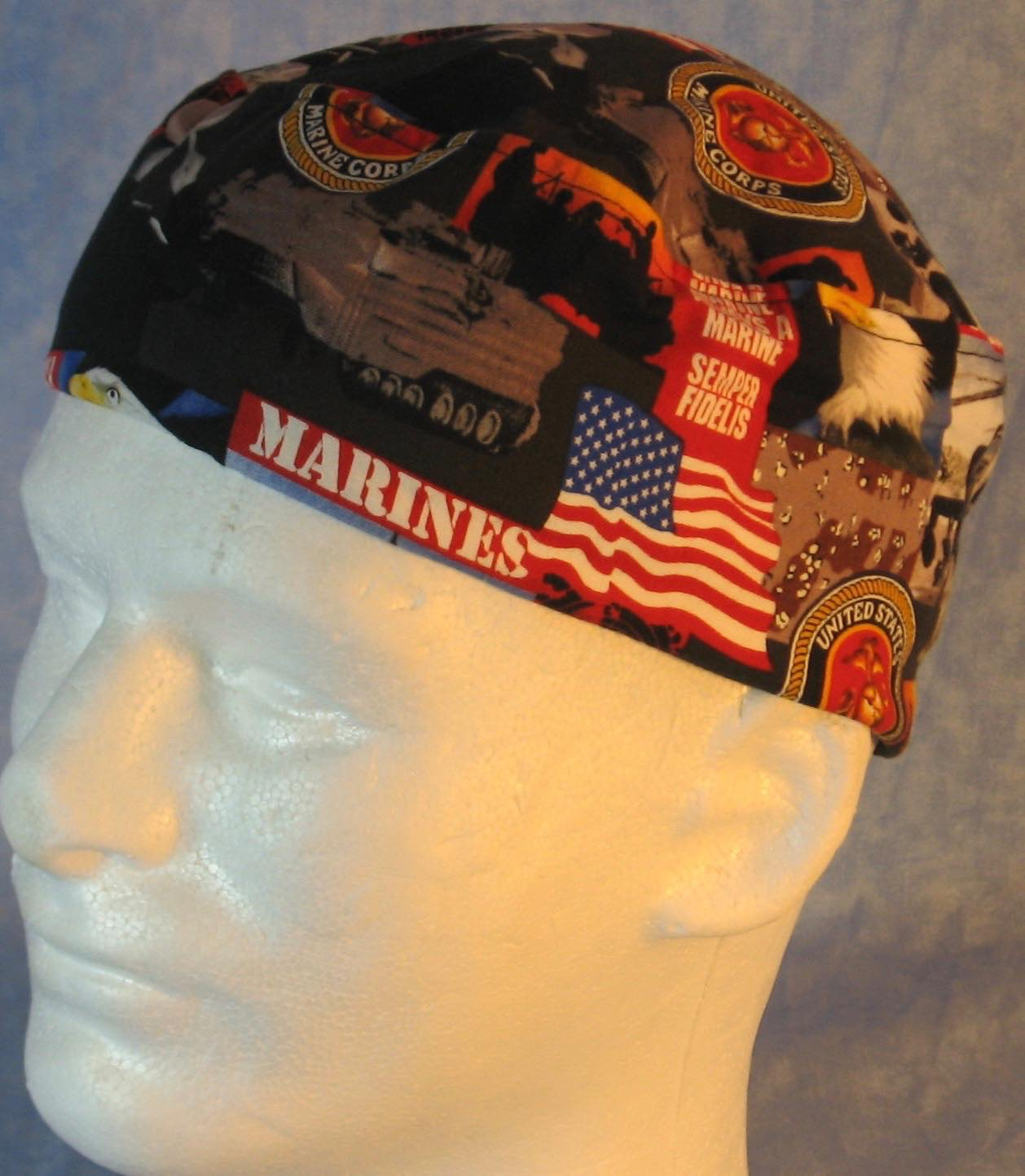 Skull Cap-US Marines-Adult XL