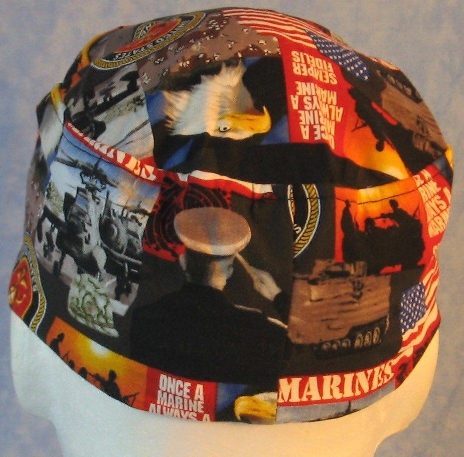 Skull Cap-US Marines-top