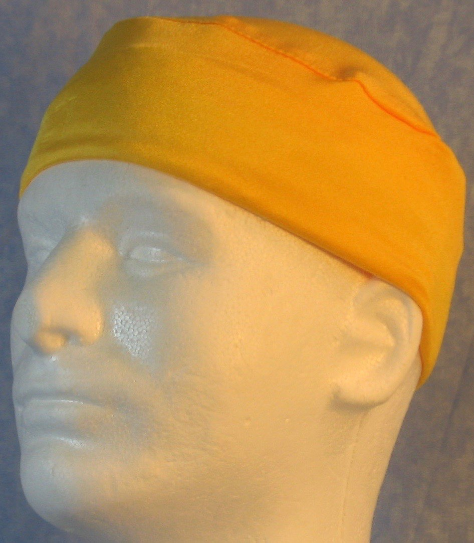 Skull Cap-Yellow Knit-Adult M