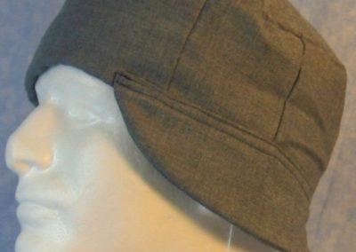 Welding Cap in Gray Blue Denim Print-left front