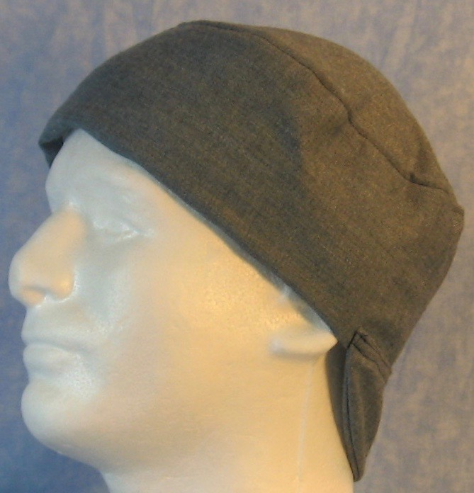 Welding Cap-Gray Blue Denim Print-Adult L